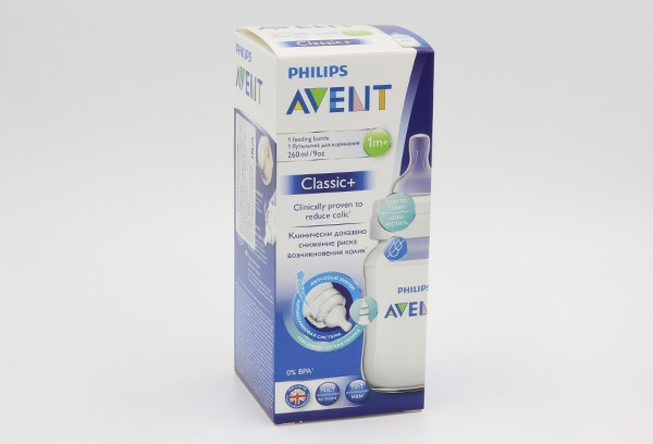 Авент Бутылка 260мл Anti-colic с силик соской SCF-813/17