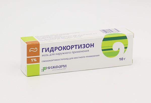 Гидрокортизон 1% мазь д/наруж прим 10г