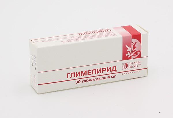 Глимепирид 4мг тбл 30