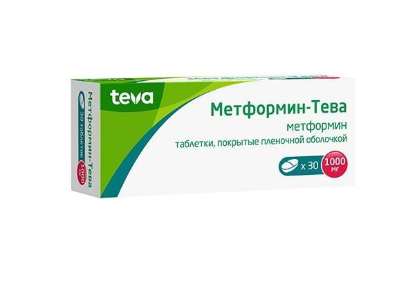 Метформин-Тева 1000мг тбл п/п об 30
