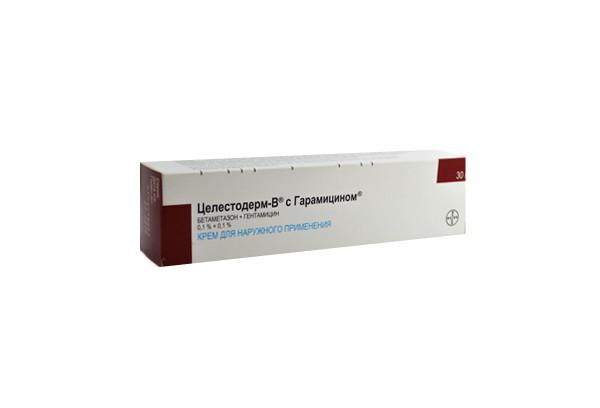 Целестодерм В с гарамицином 0,1% крем 30г