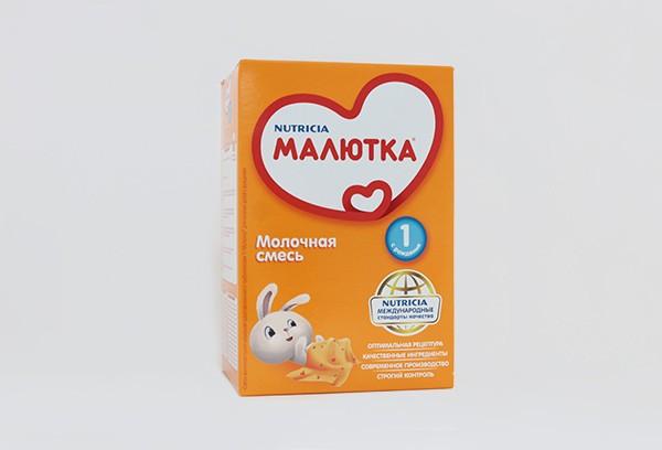 Детская Смесь Малютка 1 с пребиотиками молочная с 0мес 600г