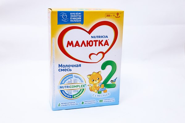 Детская Смесь Малютка 2 с 6мес молочная 300г