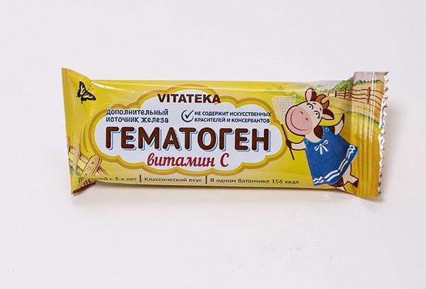 Гематоген Витатека с витамином С 40г БАД