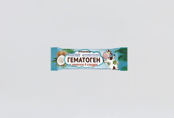 Гематоген Витатека с кокосом в шокол 40г БАД