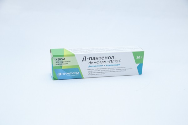 Д-Пантенол-Нижфарм-ПЛЮС крем д/наруж примен 30г