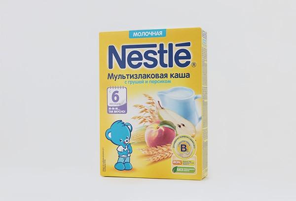 Дет Каша Нестле Мультизлак груша перс мол 220г