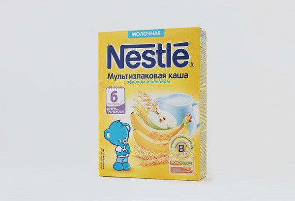 Дет Каша Нестле Мультизлак яблоко банан молочная 220г с6м
