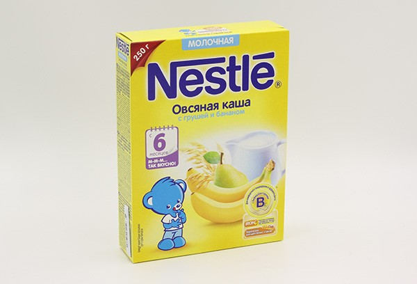 Дет Каша Нестле Овсяная груша банан молочная 220г с 6мес