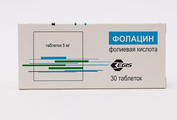 Фолацин фолиевая к-та 5мг тбл 30