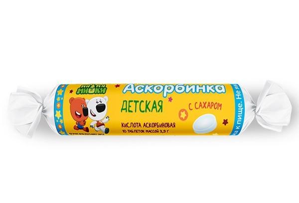 Аскорбинка детская с сахаром тбл 10/Ми-ми-мишки/ БАД