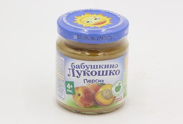 Детское Пюре Б.Лук 100г персик б/сах с 4м