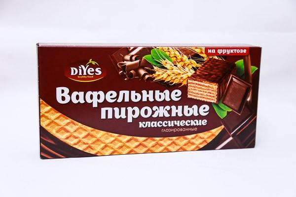 ДП Пирожные вафельные ДиYes Классические глаированные на фруктозе 190г