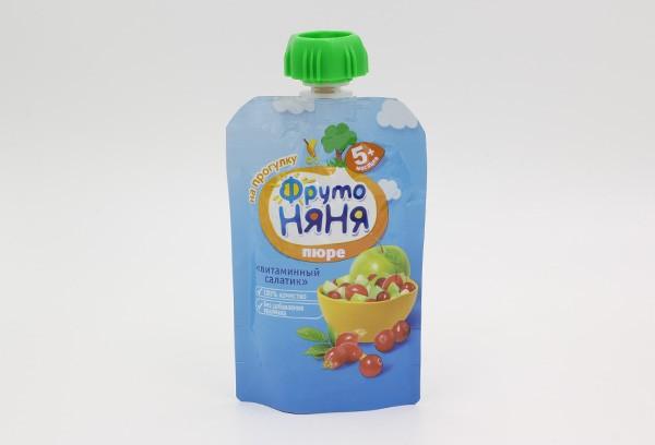 Детское Пюре Фрутоняня витамин салатик м/уп 90г с 5м
