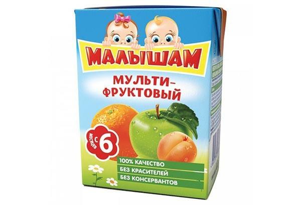 Дет Нектар Фрутоняня Малышам мульти-фруктовый 200мл