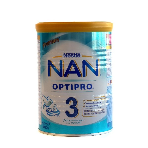 Детская Смесь НАН Optipro 3 молочная 400г