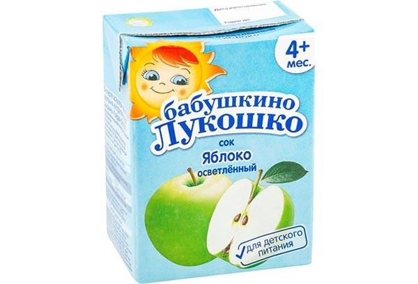 Детский Сок Бабушкино лукошко яблоко осветленный б/сах 200мл с 4м