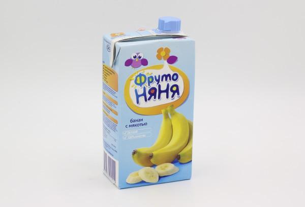 Дет Нектар Фрутоняня банановый с мяк 500мл