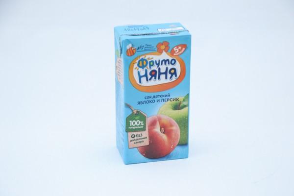 Дет Нектар Фрутоняня Малышам яблоко персик 200мл