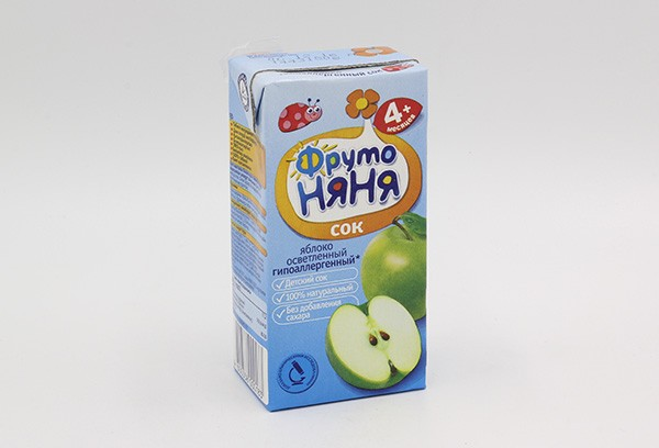 Детский Сок Фрутоняня яблоко освет б/сах 200мл