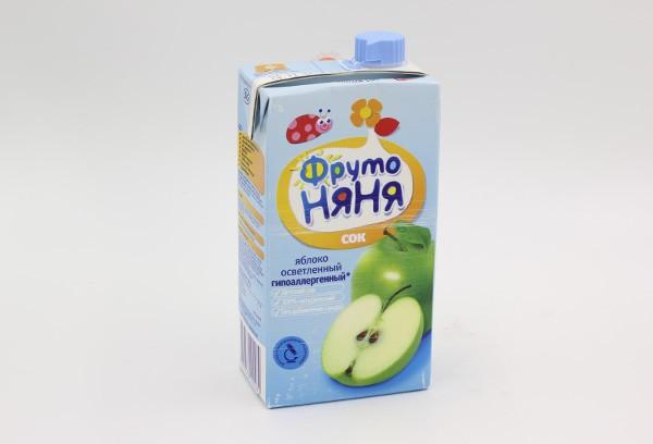 Детский Сок Фрутоняня яблоко освет б/сах 500мл