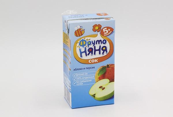 Детский Сок Фрутоняня яблоко перс б/сах 200мл с 5-и м