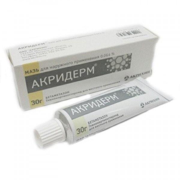 Акридерм крем д/наруж прим 30г