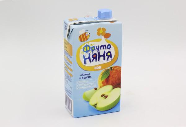 Детский Сок Фрутоняня яблоко персик 500мл