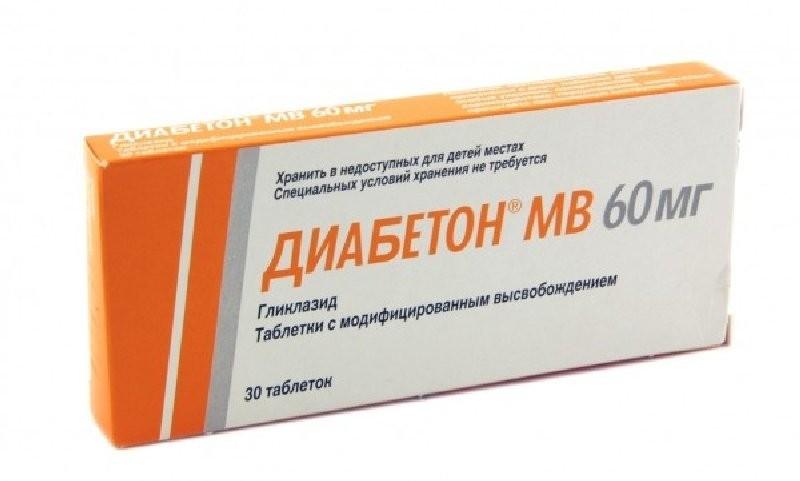 Диабетон МВ 60мг тбл модиф высвоб 30