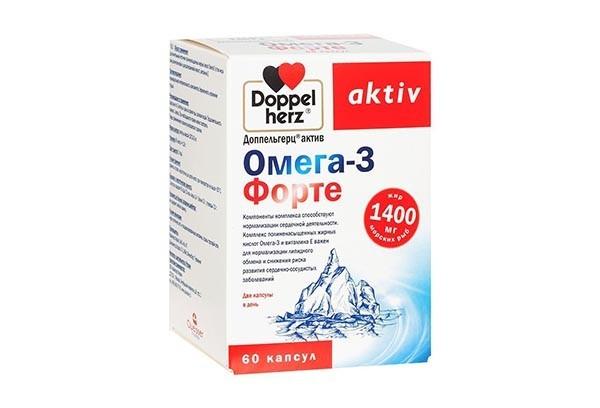 Доппельгерц Актив Омега-3 форте капс 60 БАД