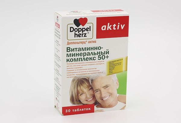 Доппельгерц Актив Вит-минер компл 50+ тбл 30 БАД