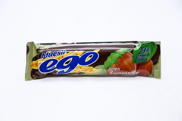 ДП Батончик мюсли Его лесной орех в мол шок 25г