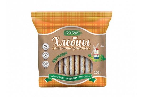 ДП Хлебцы Диадар хрустящие пшенично-ржаные 100г