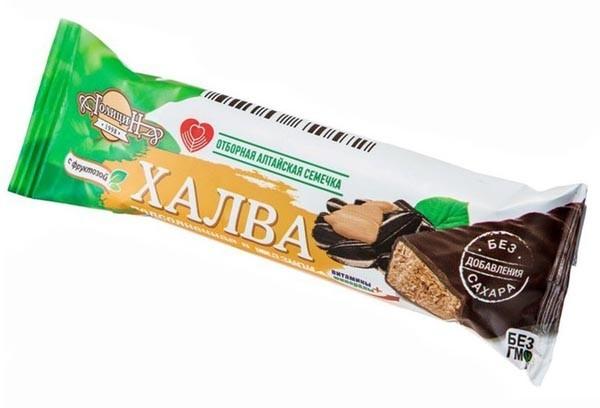 ДП Халва Подсолнечная в глазури на фруктозе 60 г