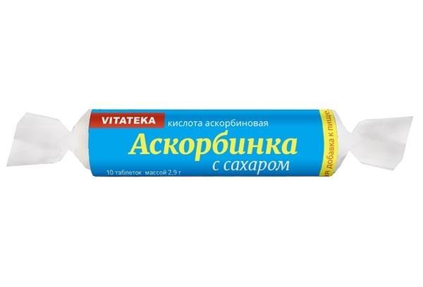 Витатека Аскорбиновая к-та с сахаром фруктов 25мг тбл10 БАД