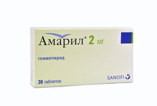 Амарил 2мг тбл 30
