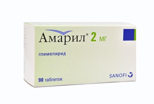 Амарил 2мг тбл 90