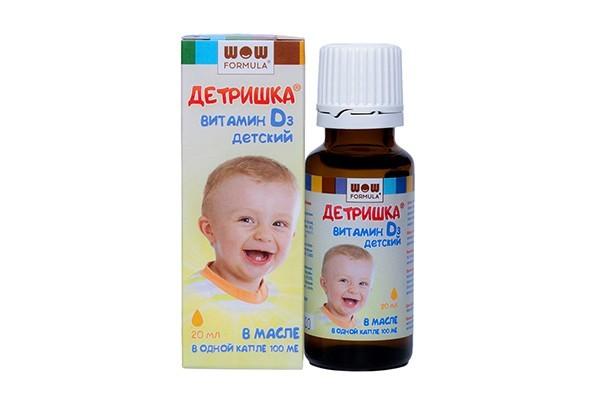 Витамин Д3 Детришка детский р-р д/внут прим в масле 20мл БАД