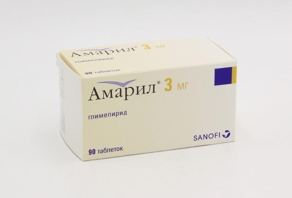 Амарил 3мг тбл 90