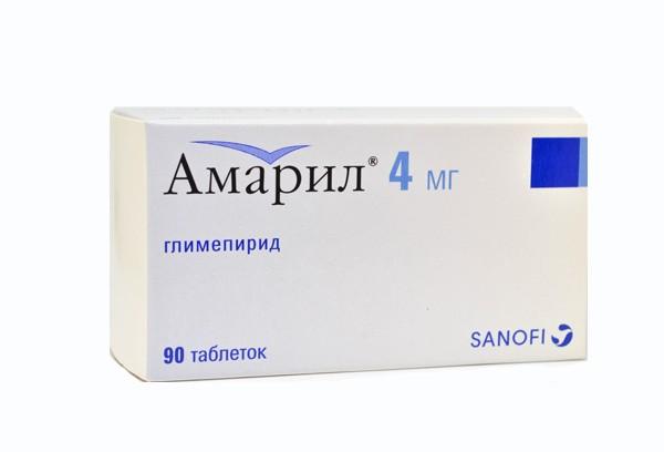 Амарил 4мг тбл 90