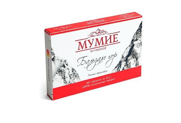 Мумие алтайское Бальзам гор 0,2г тбл 30 БАД