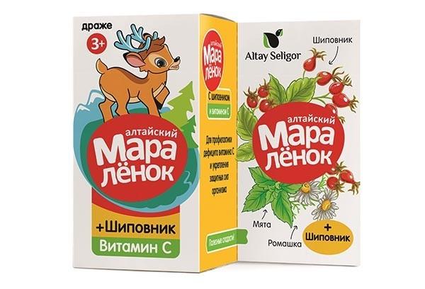 Алтайский Маралёнок Шиповник с 3-х лет драже 70г
