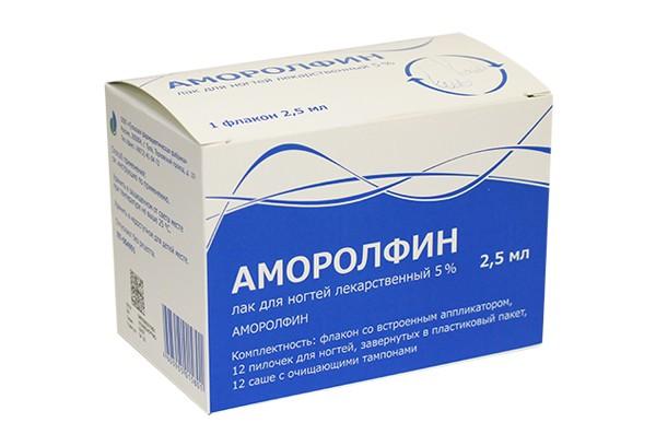 Аморолфин лак д/ногтей лекарственный 5% 2,5мл