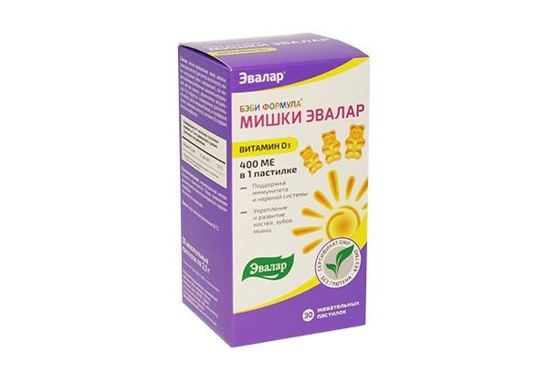 Бэби Формула Мишки витамин Д3 пастилки жев 2,5г N30 БАД