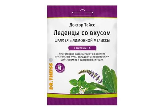 Леденцы Шалфей лимон/мелис/ витС Д-р Тайсс 50гБАД