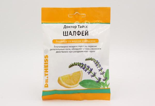 Леденцы Шалфей со вкусом Апельс Д-ра Тайсс 50гБАД