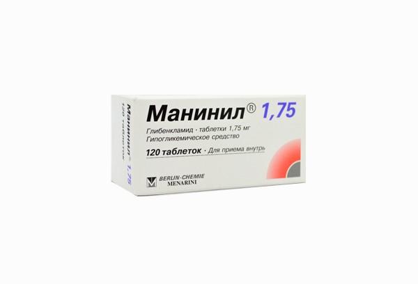 Манинил 1,75мг тбл 120