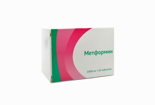 Метформин 1000мг тбл 60