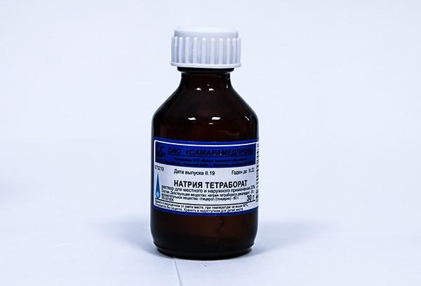 Натрия тетрабората р-р в глицерине 20% 30г