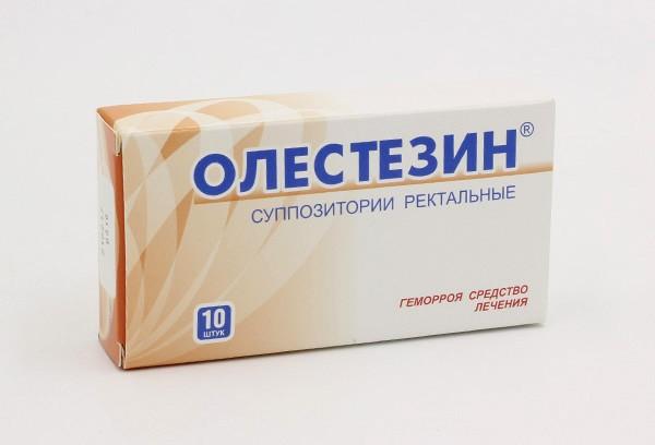 Олестезин супп рект 10